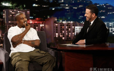 Kanye West on Jimmy KimmelCredit: ABC/Randy Holmes