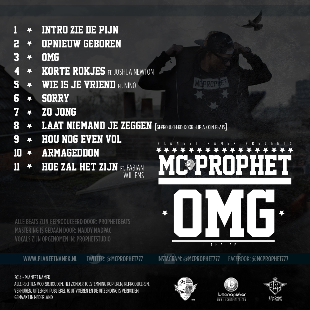MC Prophet - OMG cover back