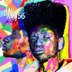De artistieke cover van Jaynalysis met 'twee gezichten van Jay-Way'.